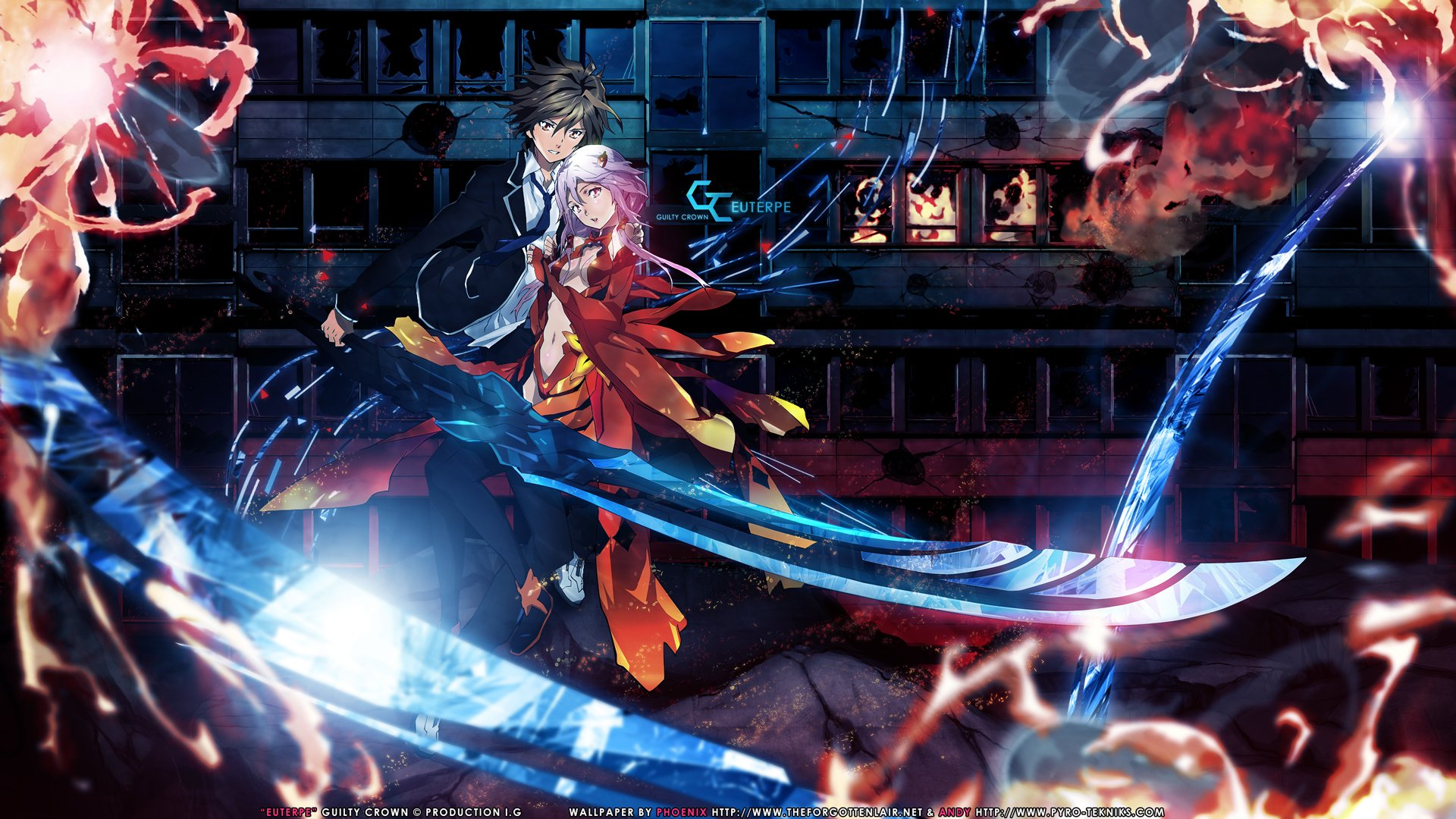 hd wallpaper background id193980 1920x1080 anime guilty crown