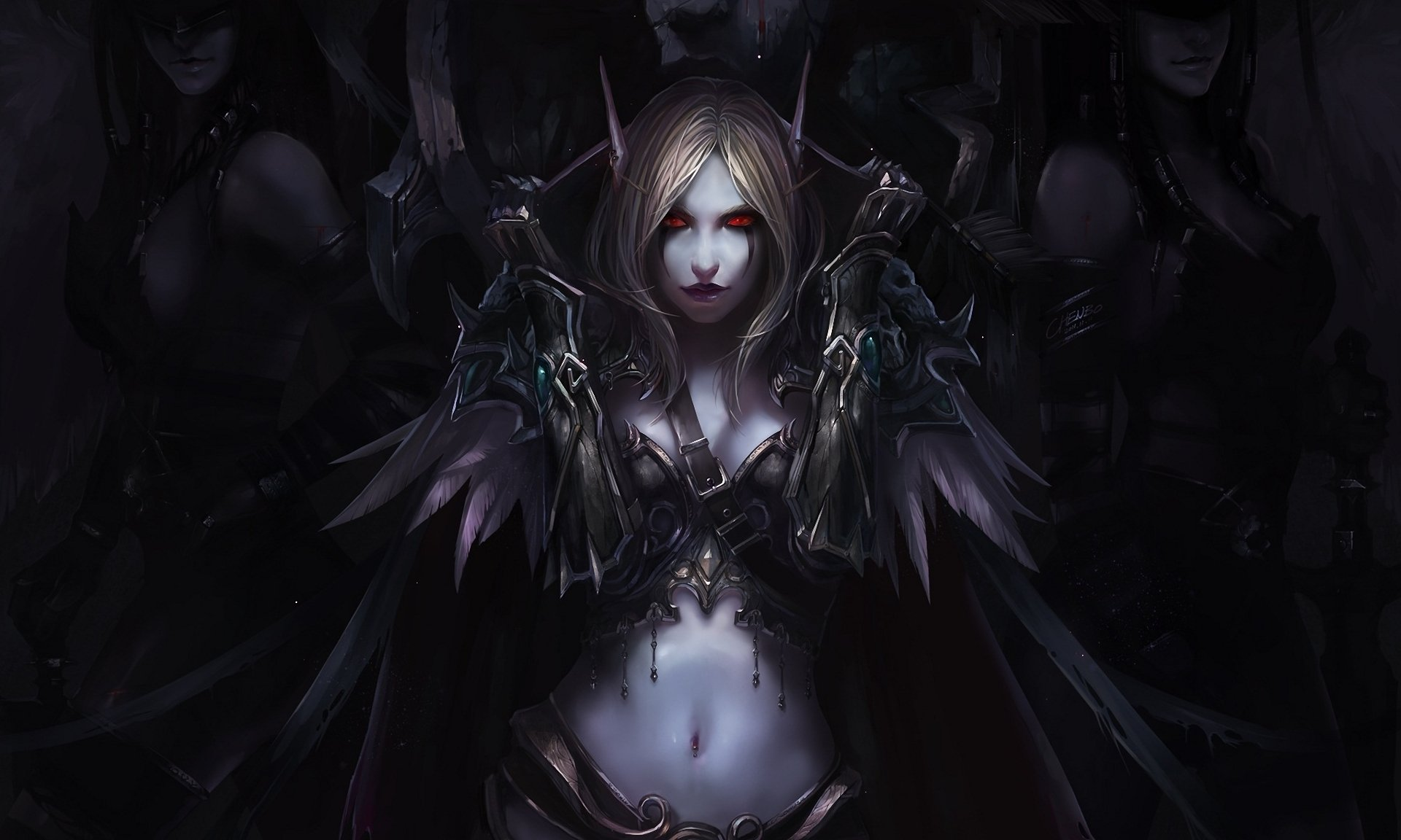 Video Game - World Of Warcraft  Elf Sylvanas Windrunner Fantasy Dark Dark Angel Demon Woman Warrior Woman Armor Wallpaper