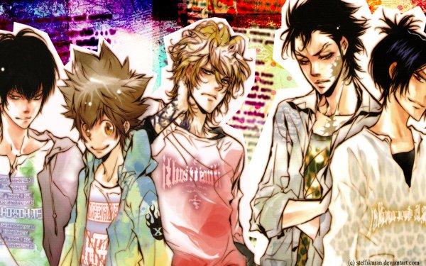 Anime Katekyō Hitman Reborn! Tsunayoshi Sawada Mukuro Rokudo Dino Kyoya Hibari Xanxus HD Wallpaper | Background Image