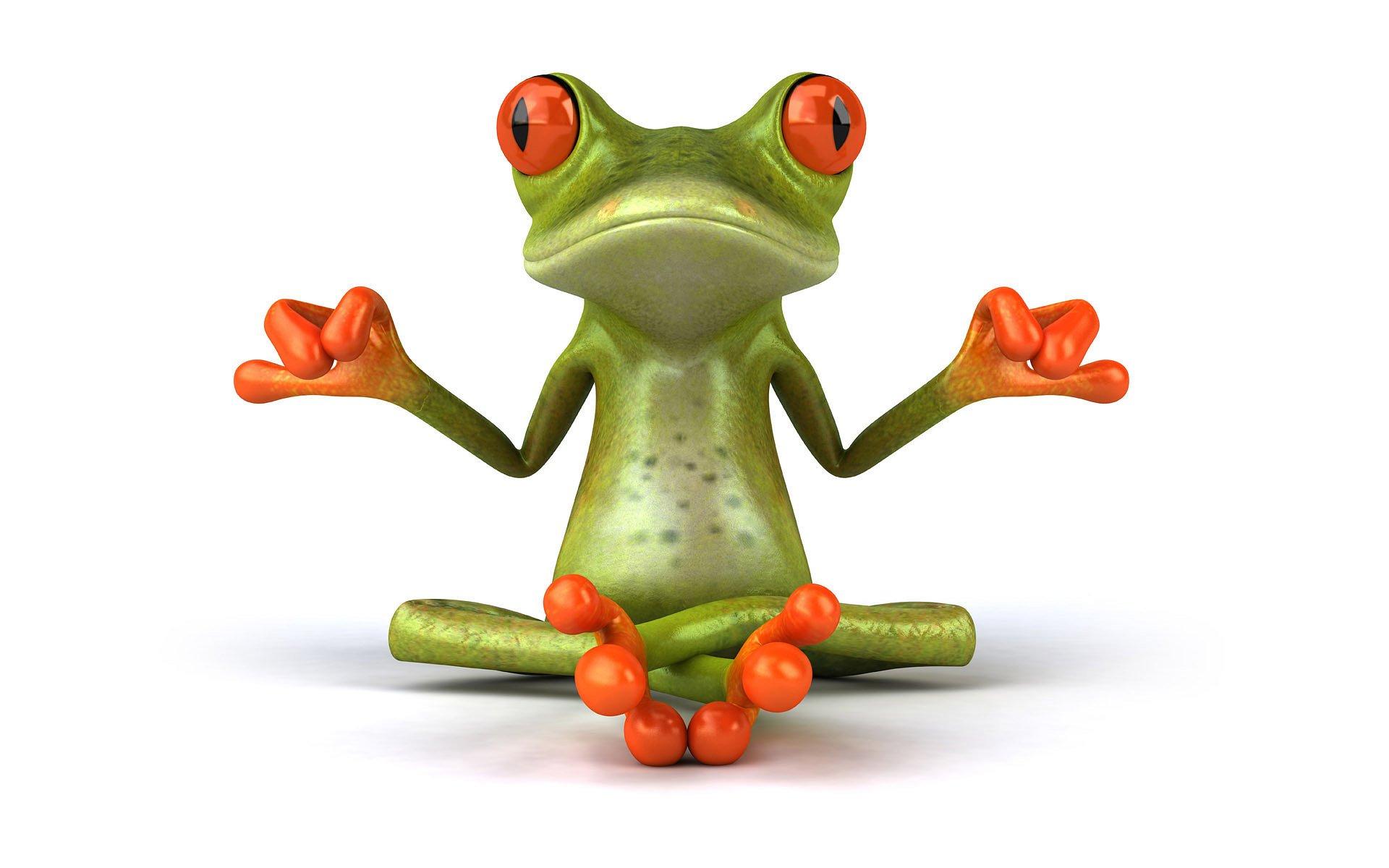 CGI - 3D  Frog Wallpaper