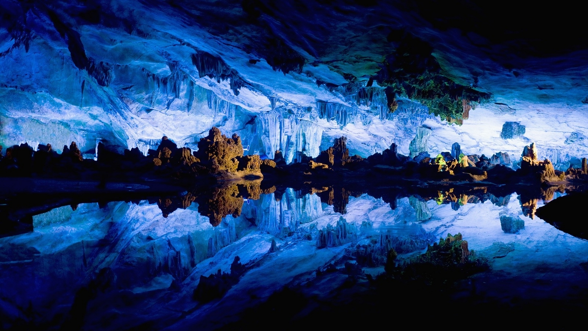Reed Flute Cave Full HD Wallpaper and Background