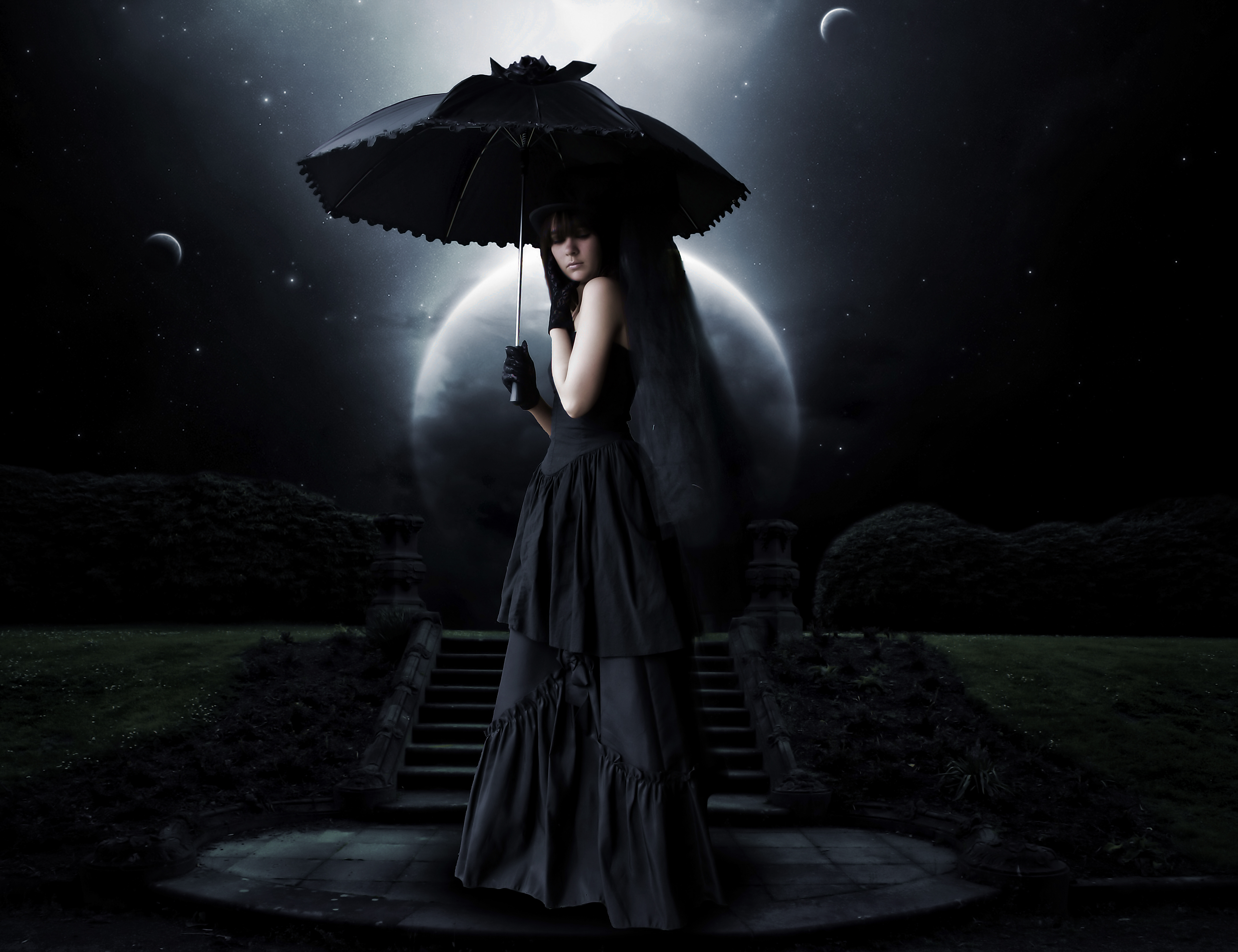 Oscuro - Gótico  - Moonlight - Goth Fondo de Pantalla