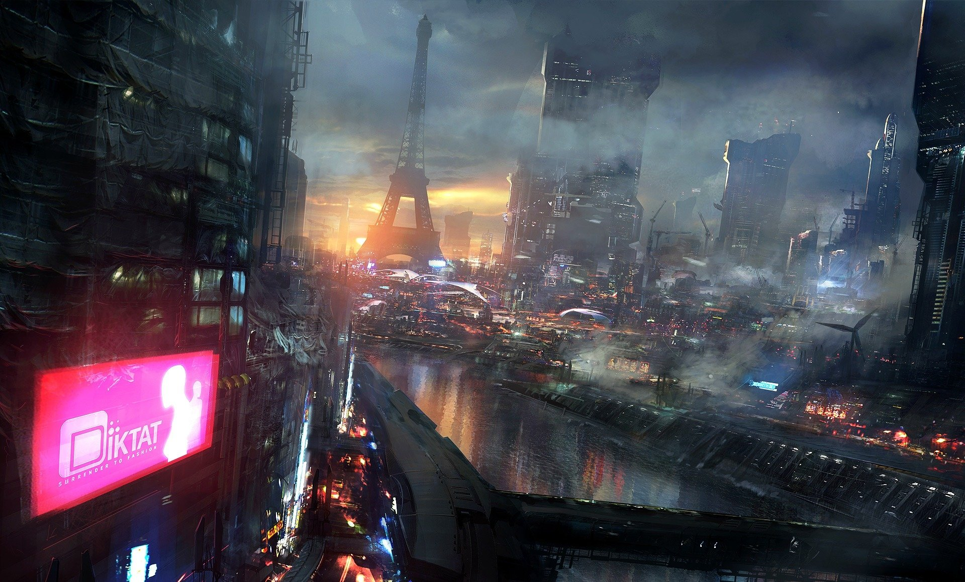 Video Game - Remember Me  Paris France City Eiffel Tower Cyberpunk Wallpaper