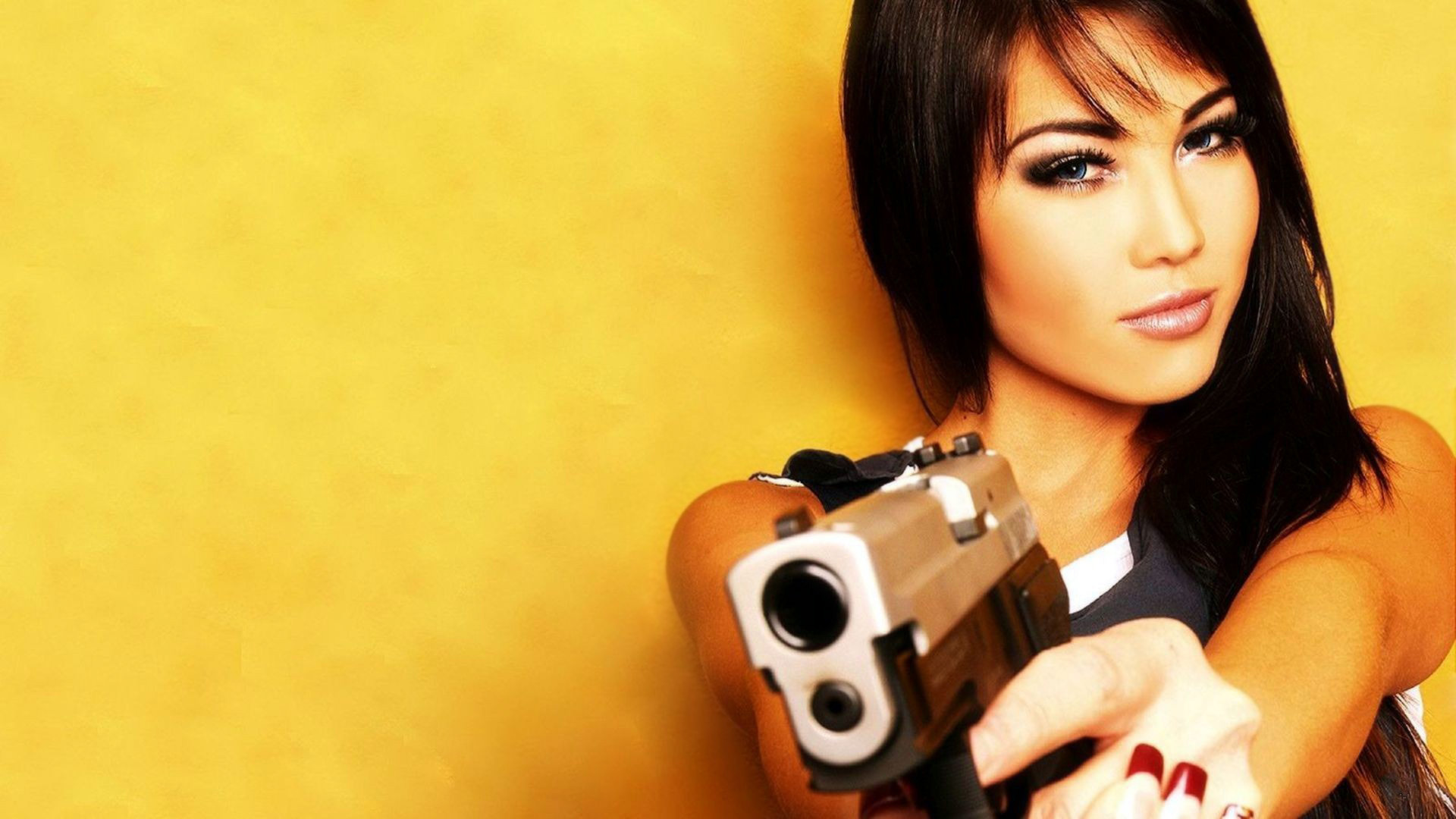 Girls guns full hd wallpaper and background image 1920x1080 women girls guns wallpaper voltagebd Gallery