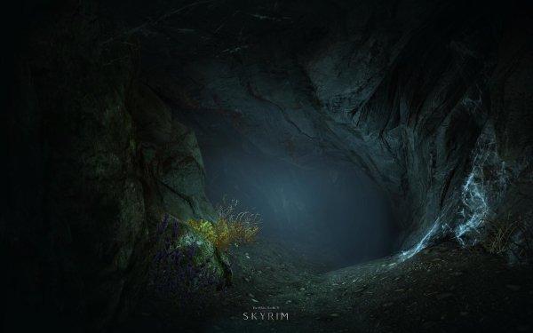 Videojuego The Elder Scrolls V: Skyrim The Elder Scrolls Skyrim Cueva Fondo de pantalla HD | Fondo de Escritorio