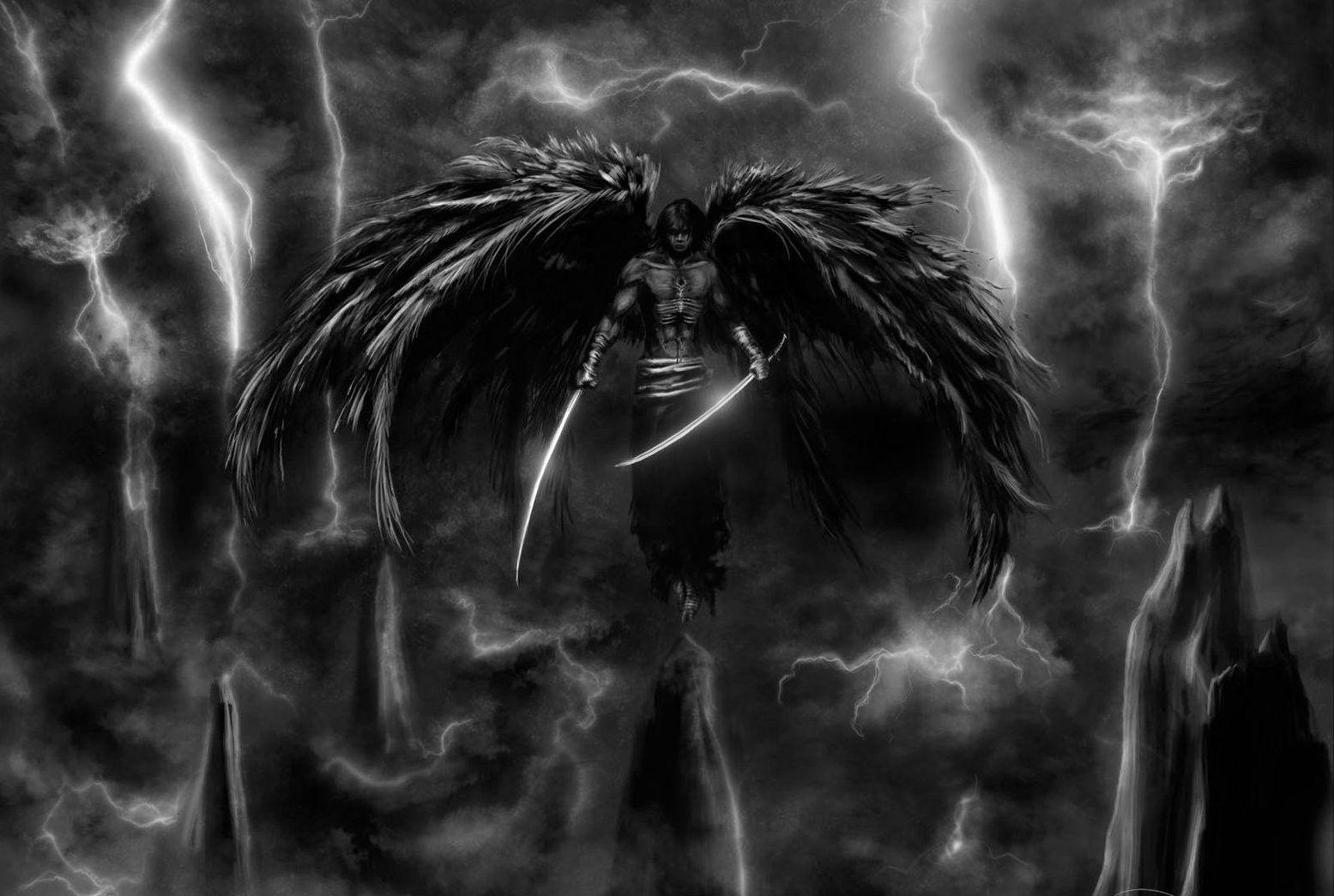 Angel wallpaper and background image 1555x1045 id203970 dark angel warrior anime wallpaper voltagebd Images
