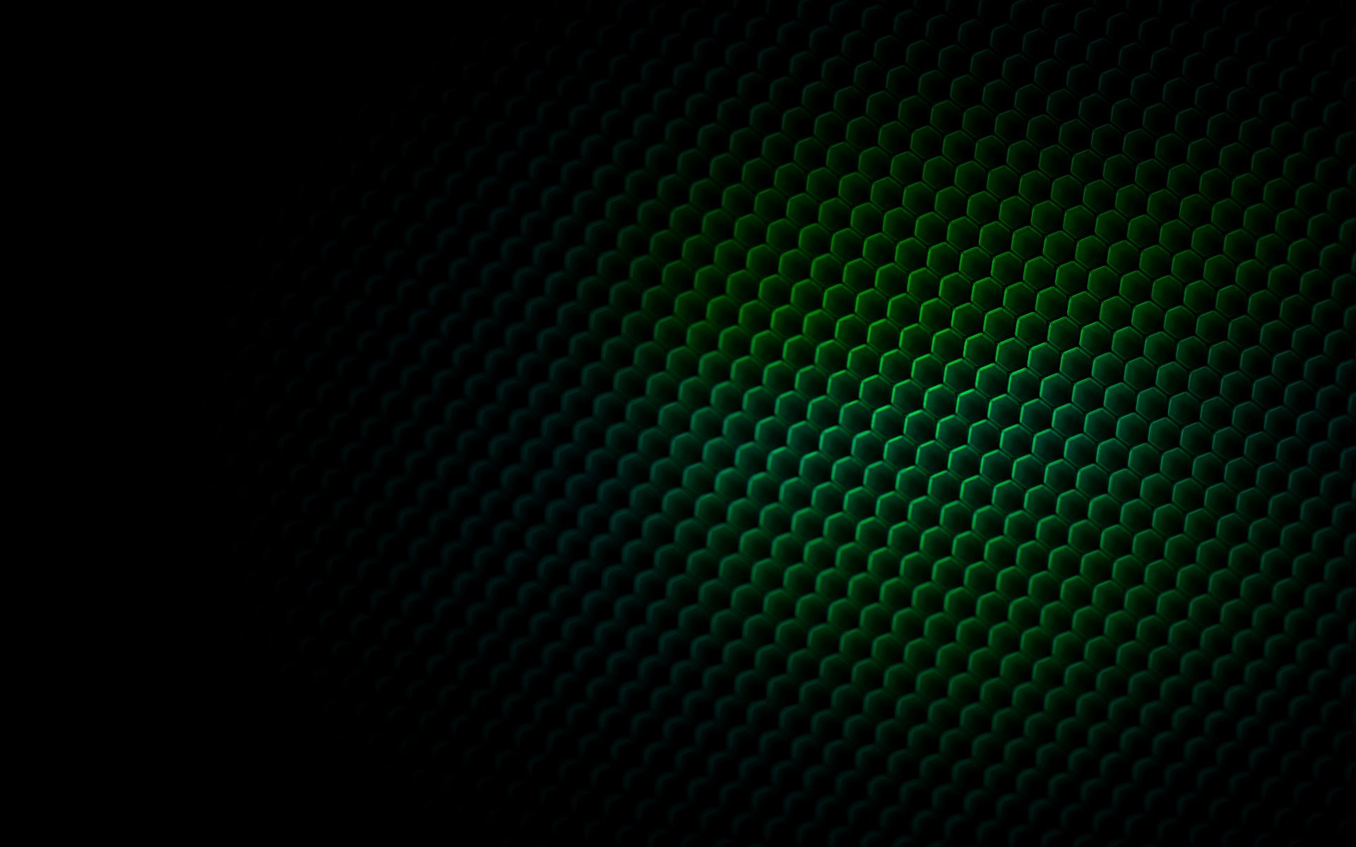 Abstract - Pattern  Bee Hive Green 3D CGI Wallpaper