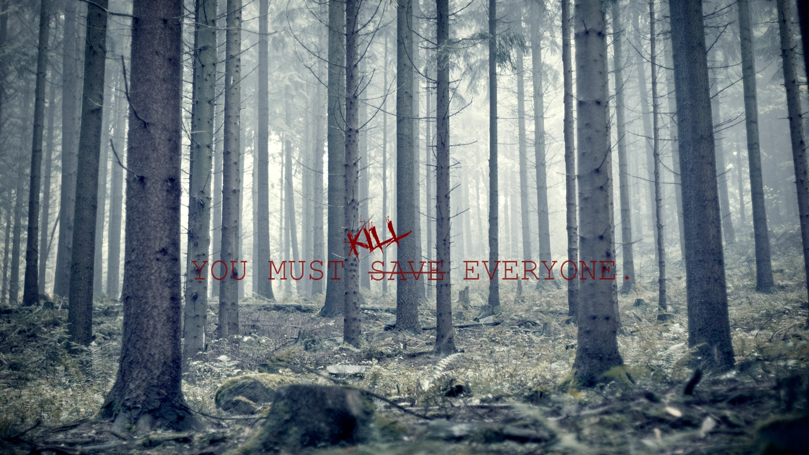 Dunkel - Künstlerisch  Kill Statement Shocking Forest Wallpaper