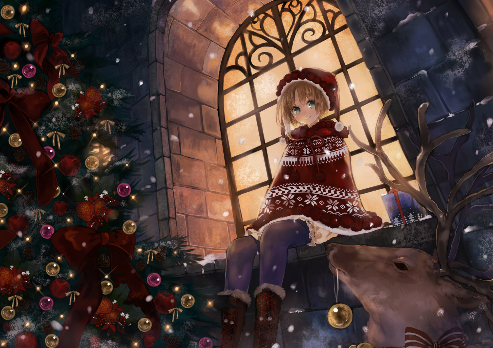 Anime Christmas Wallpaper.21 Christmas Hd Wallpapers Background Images Wallpaper Abyss