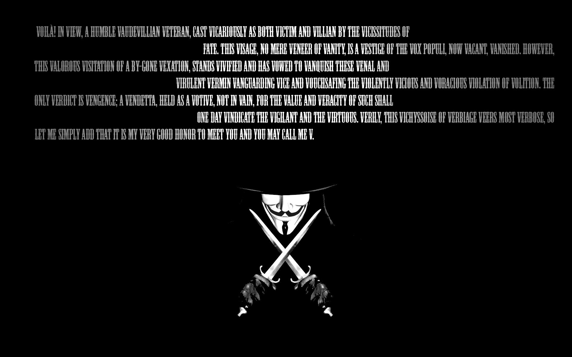For Vendetta Wallpaper Quotes. QuotesGram