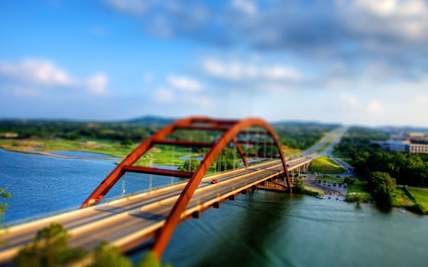 Man Made Bridge Bridges Pennybacker Bridge Austin Texas HD Wallpaper   Background Image
