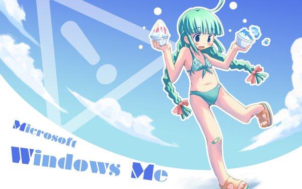 Anime Os-tan Windows Girl ME-tan HD Wallpaper | Background Image