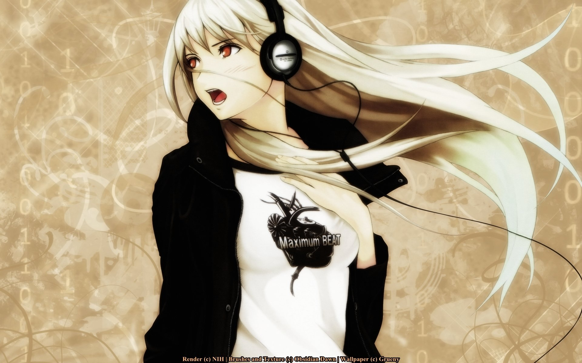 Anime - Headphones  Original Wallpaper
