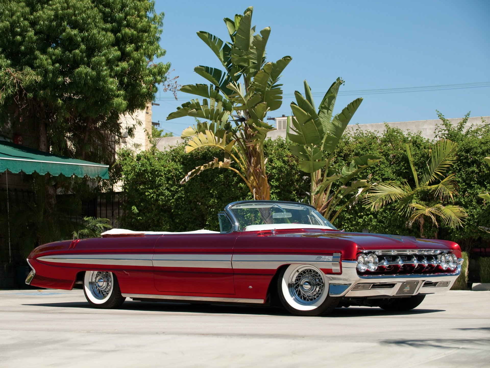 1961 Oldsmobile Starfire Convertible Full HD Wallpaper and ...