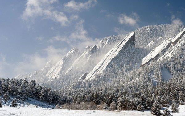 Earth Mountain Mountains Colorado The Flatirons HD Wallpaper | Background Image