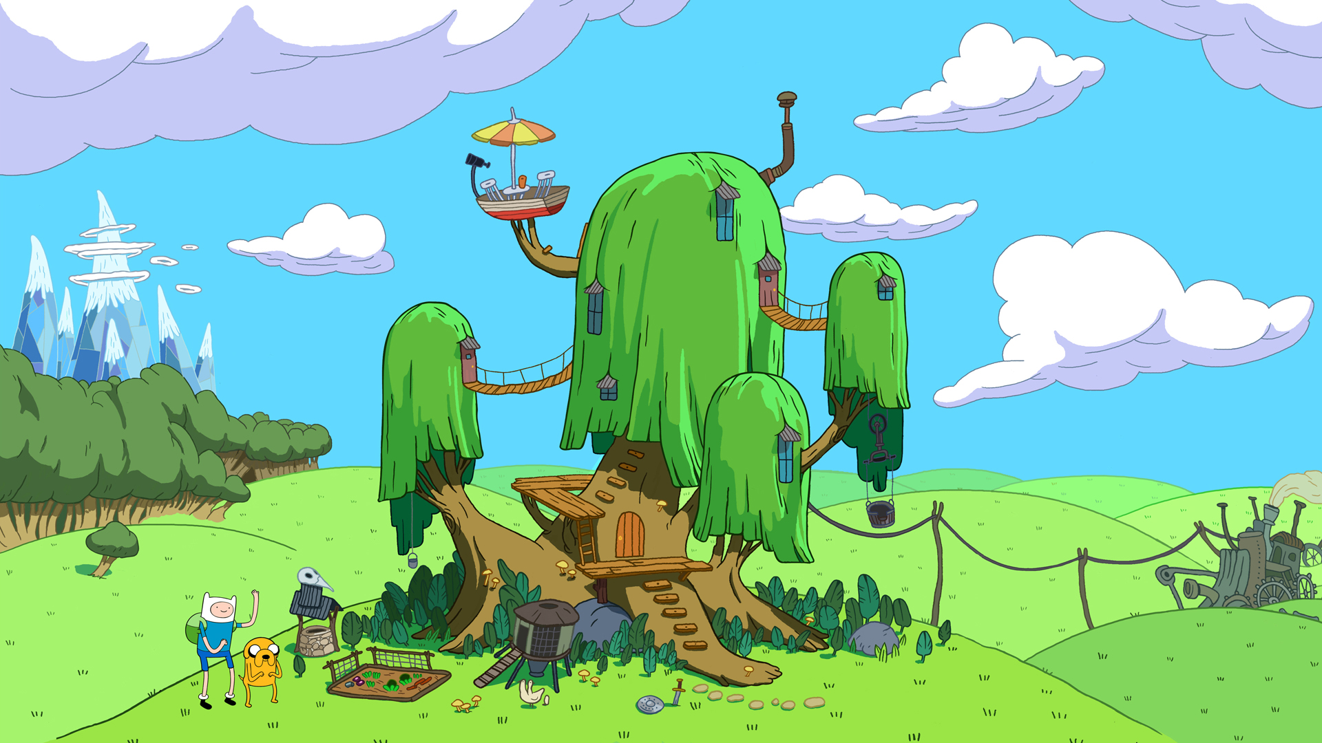 adventure time blue background - photo #40