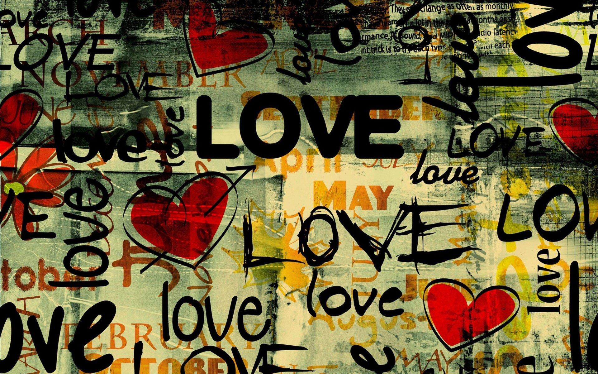 Künstlerisch - Liebe  Abstrakt Herz Wallpaper