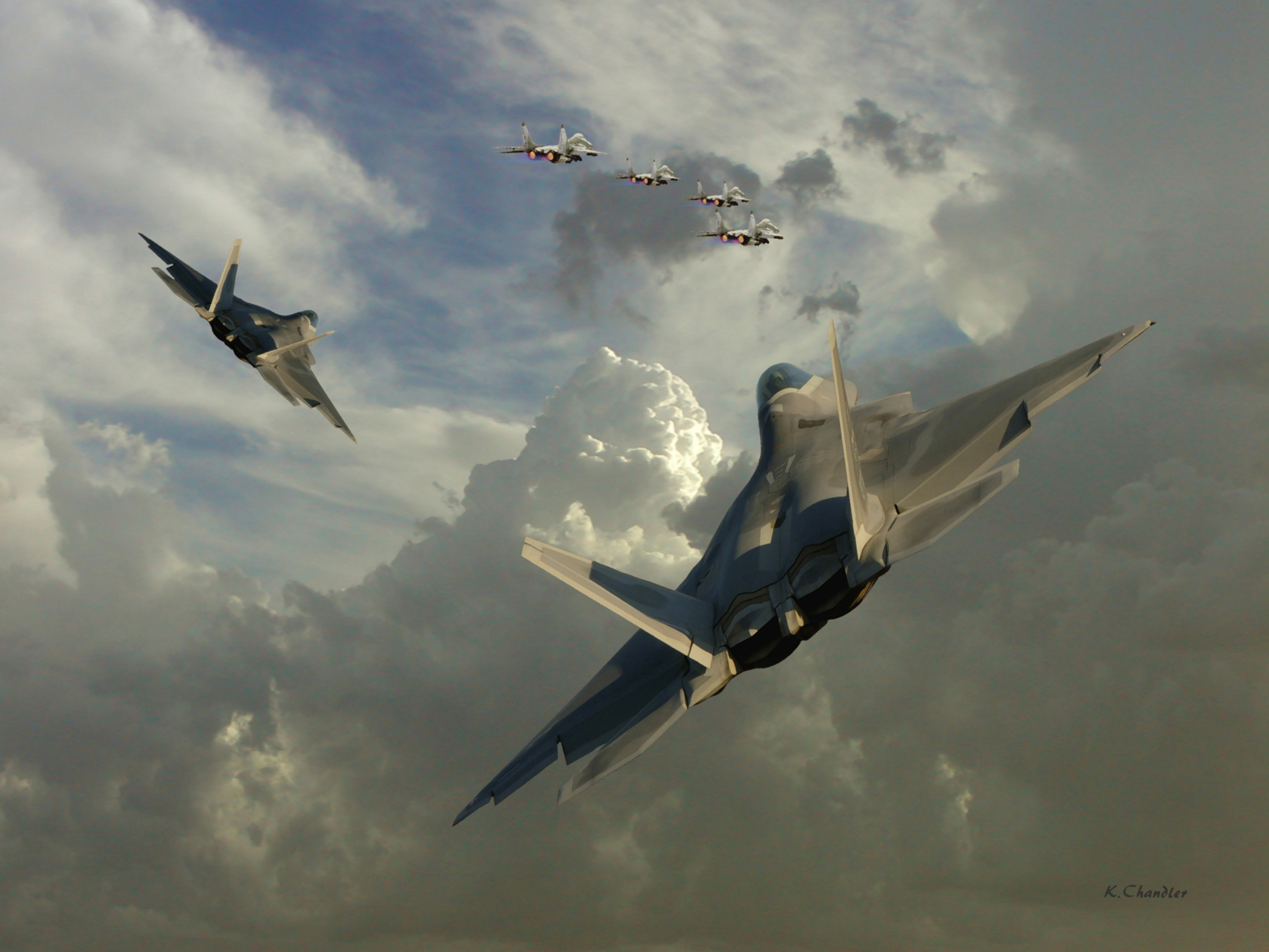 38 lockheed martin f-22 raptor hd wallpapers | background images