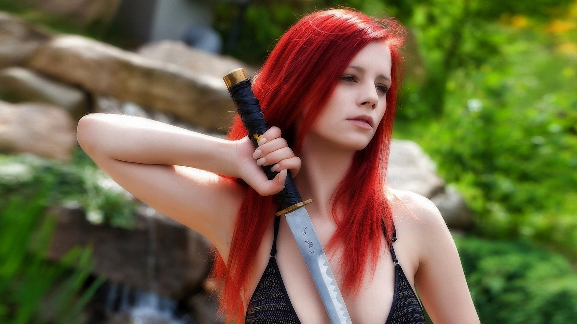 Women - Cosplay  Erza Scarlet Ariel Piper Fawn Wallpaper