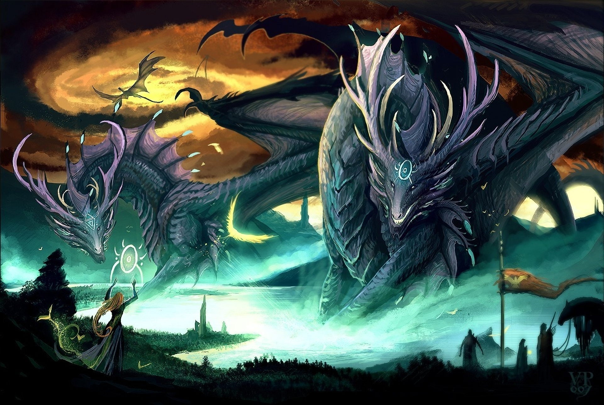Dragon Callers Full HD Wallpaper And Hintergrund
