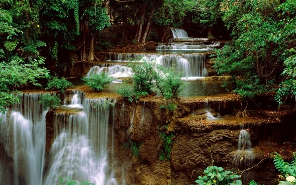Earth Waterfall Waterfalls Nature Vegetation Water HD Wallpaper   Background Image