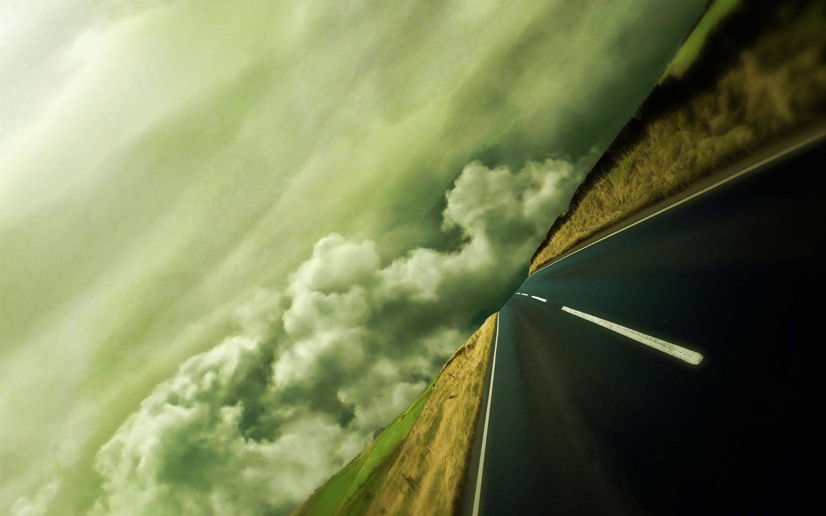Construction Humaine - Route  Fond d'écran