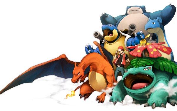 Video Game Pokemon: Red and Blue Pokémon Snorlax Blastoise Lapras Pikachu Red Charizard Venusaur HD Wallpaper | Background Image