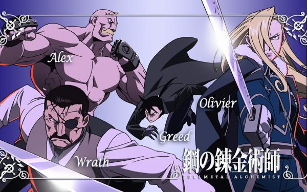 Anime FullMetal Alchemist Fullmetal Alchemist Olivier Mira Armstrong Alex Louis Armstrong Wrath Greed HD Wallpaper | Background Image