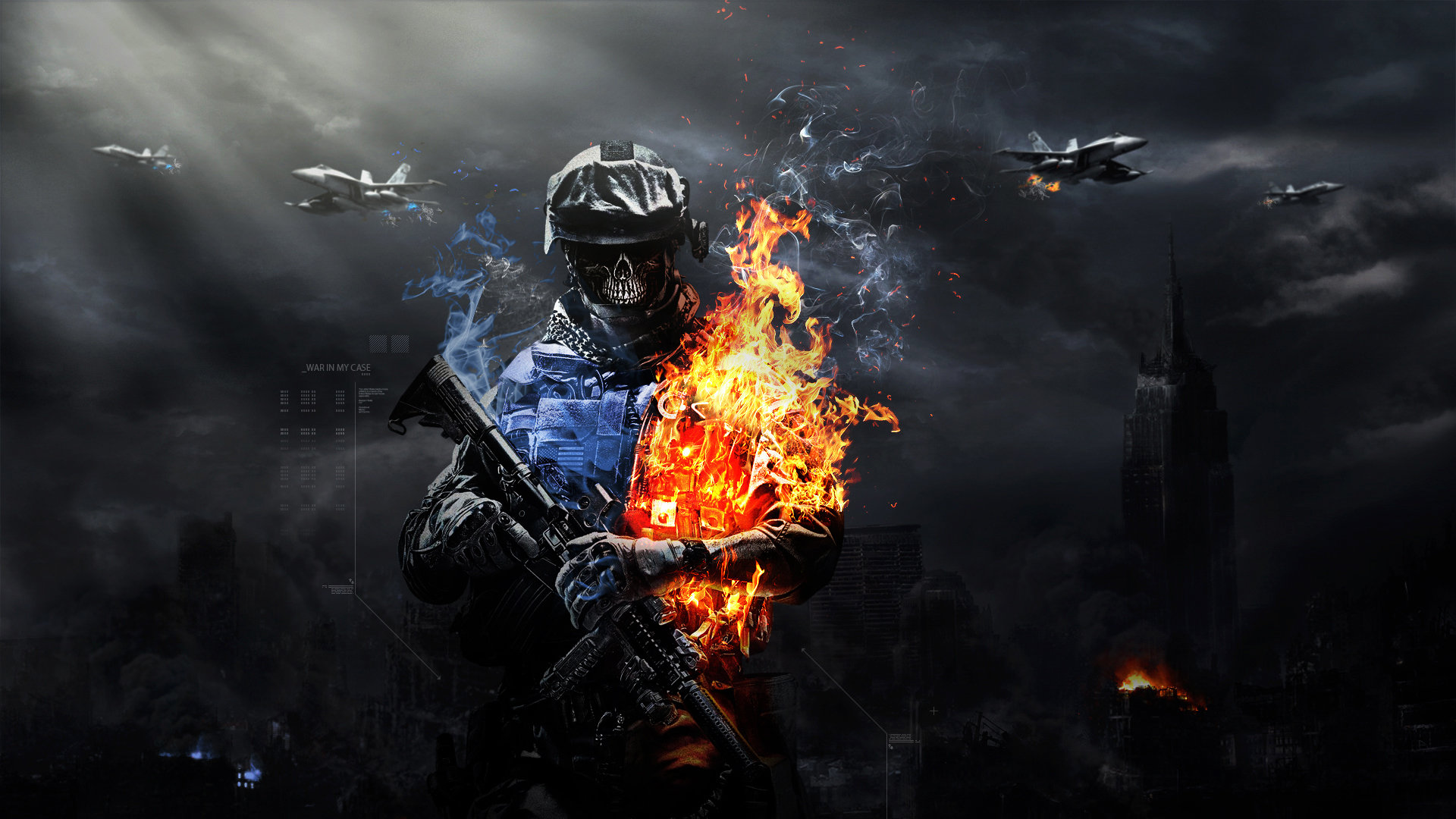 Cool Battlefield 4 Fire Armor In Black Background: Battlefield 3 Full HD Tapeta And Tło