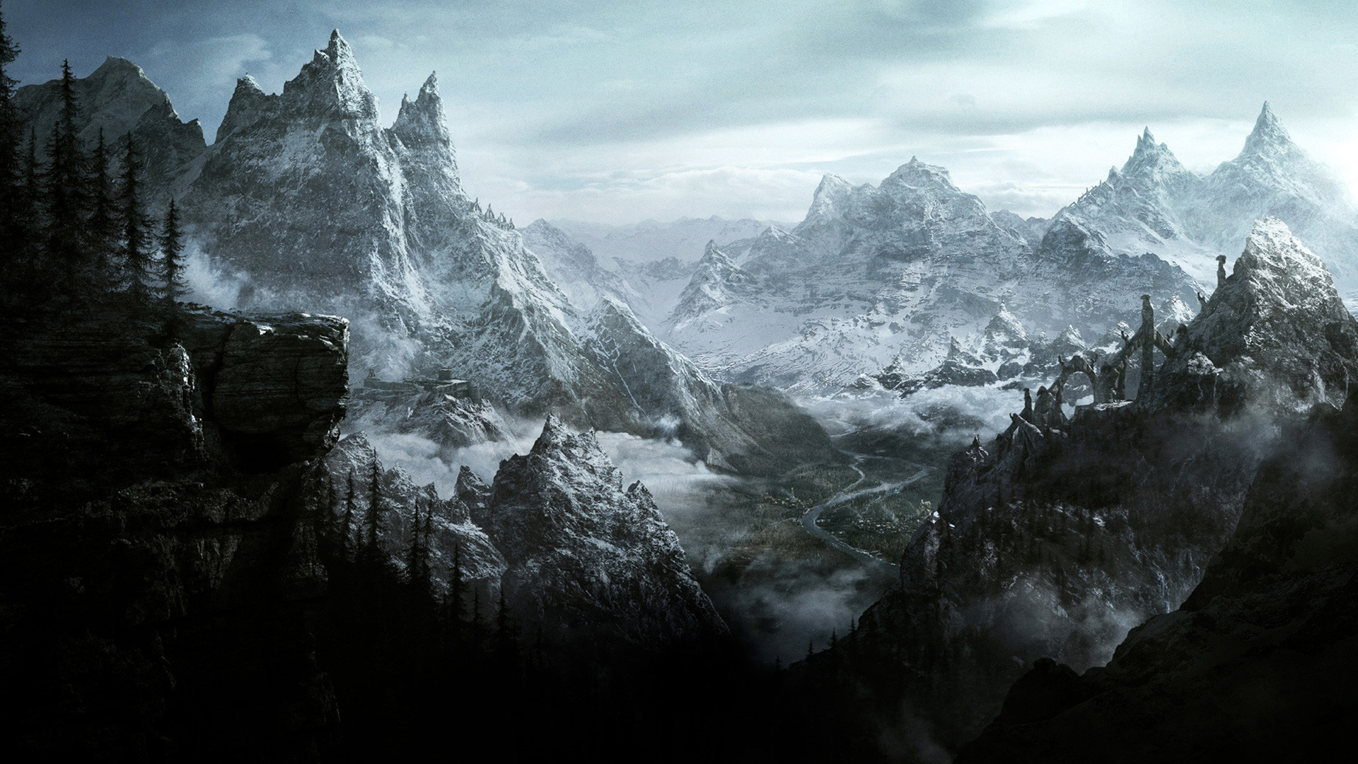 the elder scrolls v: skyrim full hd wallpaper and background image