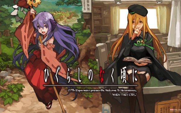 Anime When They Cry Takano Miyo Furude Hanyū Higurashi When They Cry HD Wallpaper | Background Image