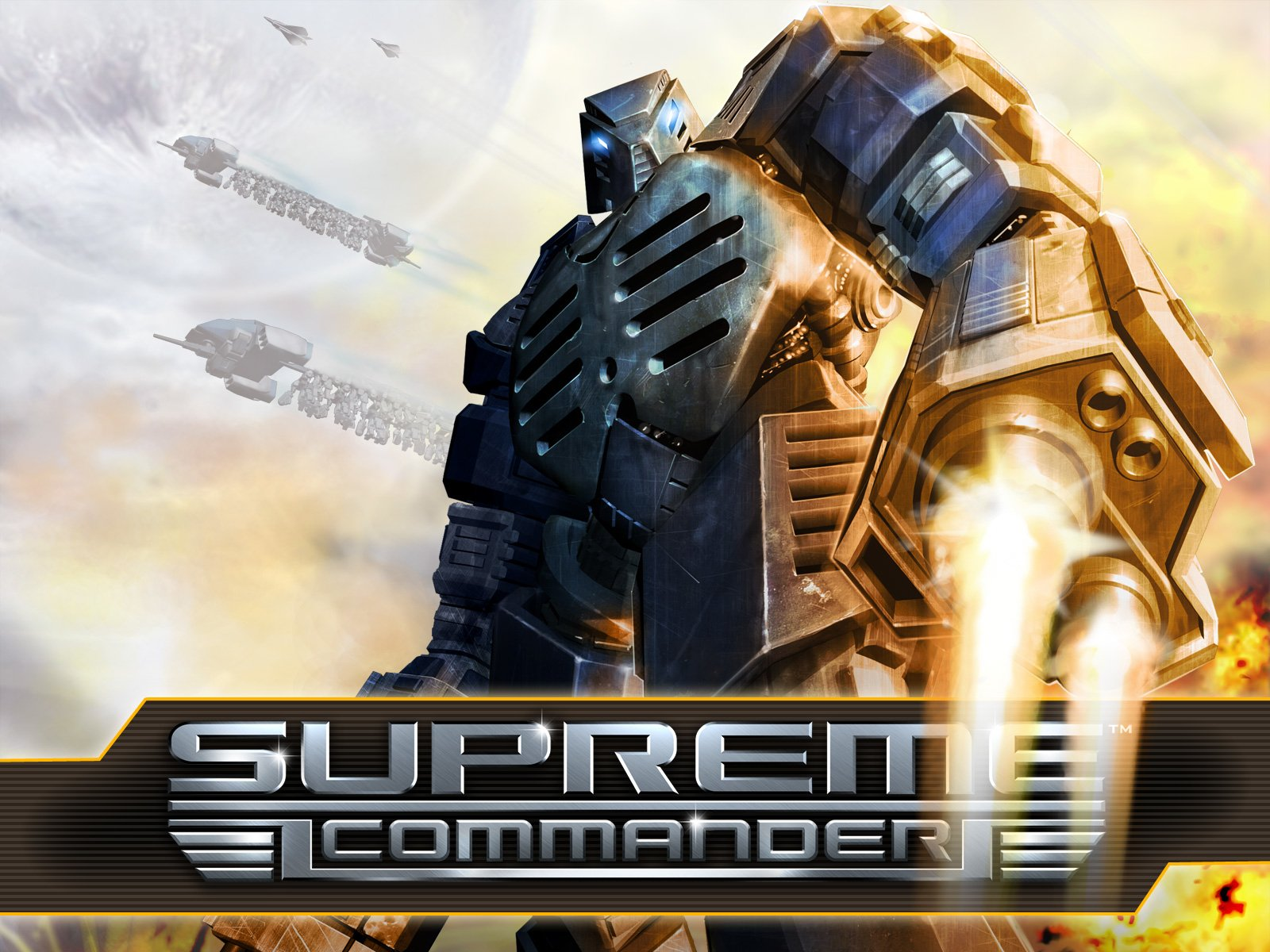 Supreme Commander Wallpaper And Background Image 1600x1200 Id