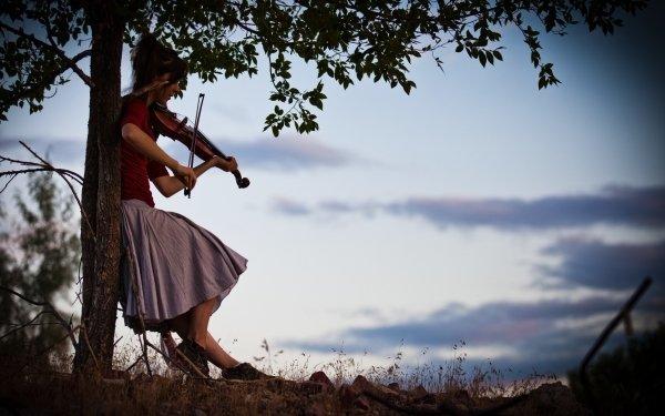Music Lindsey Stirling Violin Brunette HD Wallpaper | Background Image