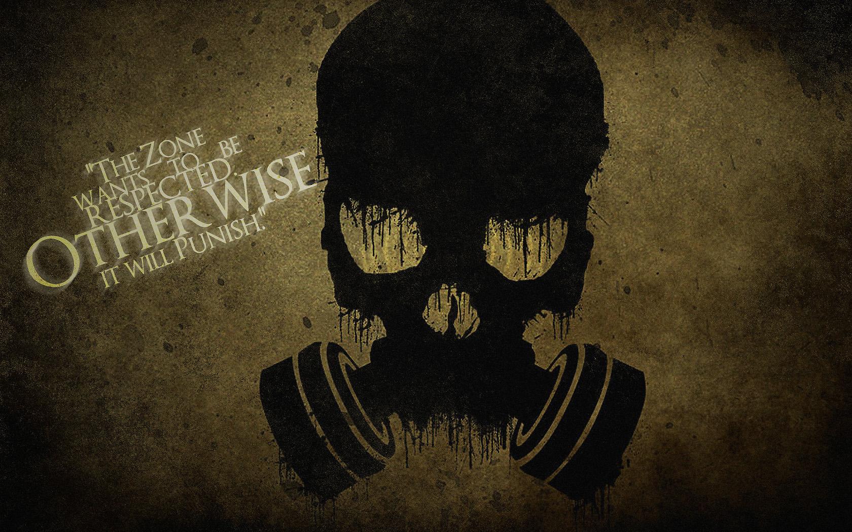 Skull Gas Mask Art