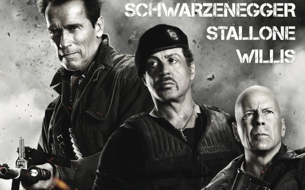 Movie The Expendables 2 The Expendables Church Bruce Willis Sylvester Stallone Barney Ross Trench Arnold Schwarzenegger HD Wallpaper | Background Image