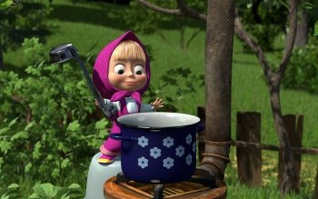 6 Masha And The Bear Hd Wallpapers Background Images