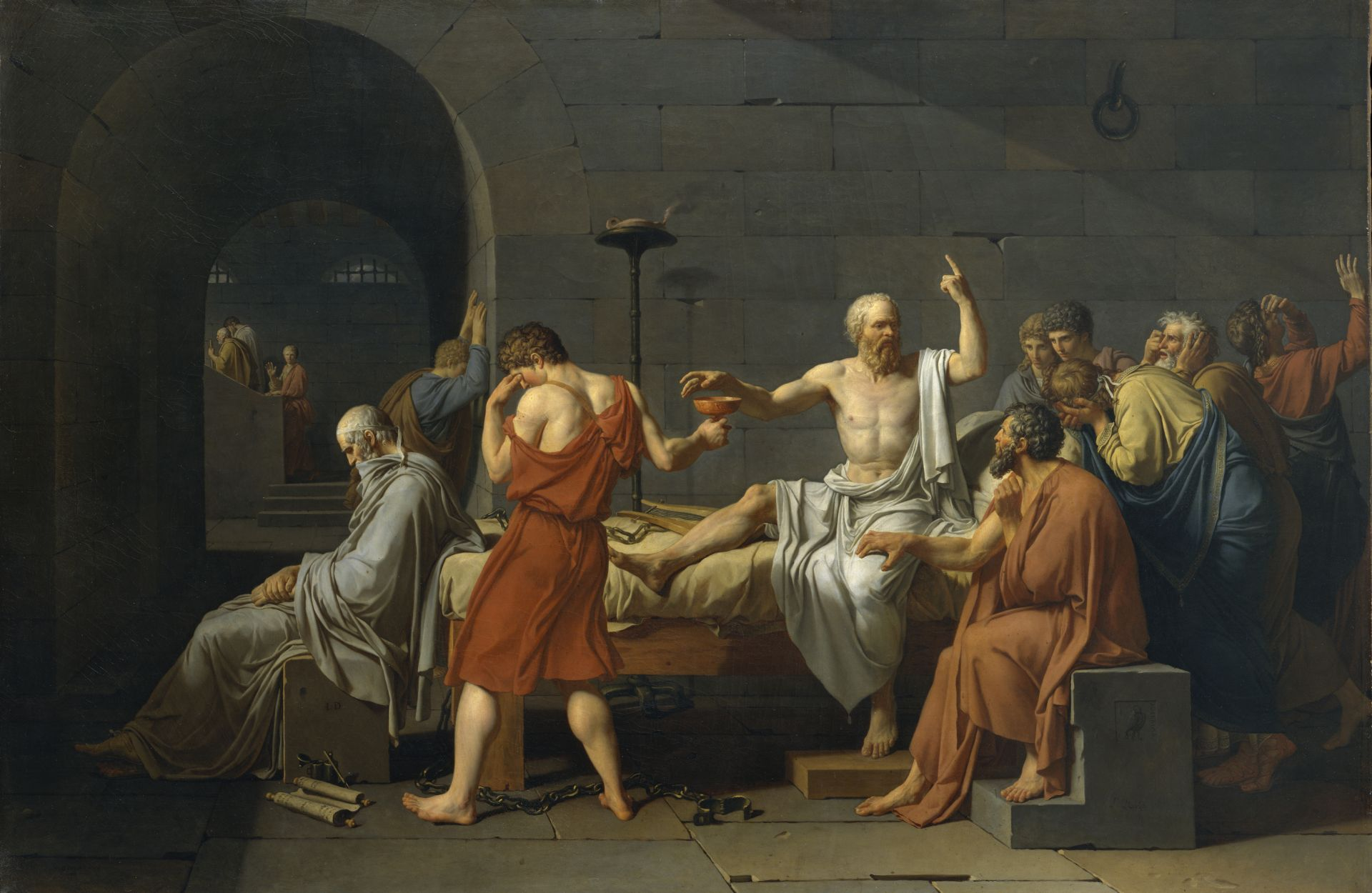 The Death of Socrates HD Wallpaper   Background Image ...