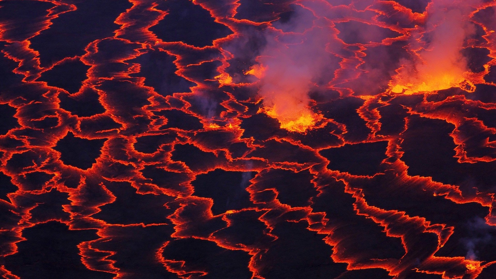 Earth - Volcano  Lava Fire Hell Wallpaper