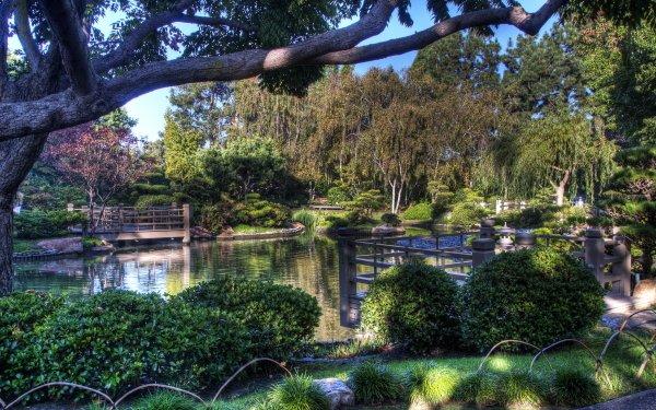 Man Made Japanese Garden HDR HD Wallpaper | Background Image