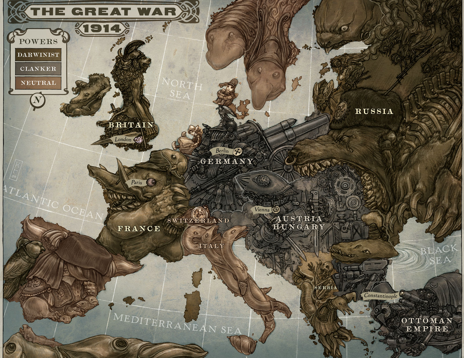 Militair - Kaart  Maps The Great War Of 1914 Wallpaper