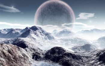 Научная фантастика - Planet Rise Wallpapers and Backgrounds ID : 25100