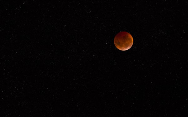 Sci Fi Moon Blood Moon HD Wallpaper | Background Image