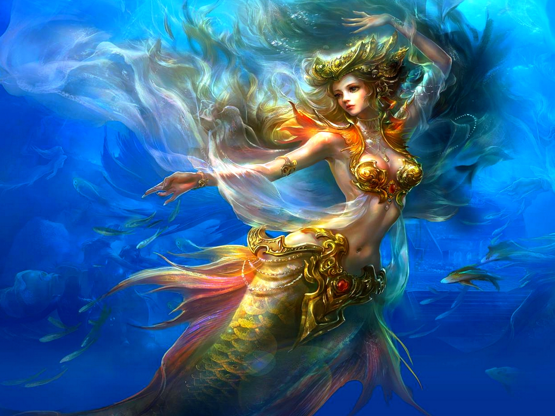 Fantasy - Mermaid  Beautiful Wallpaper