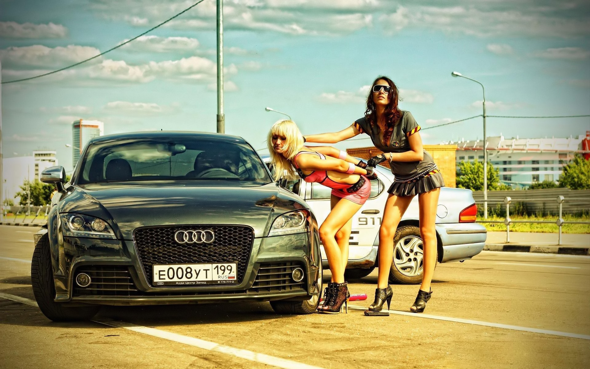 Girls  Cars Full Hd Wallpaper And Background Image -3389