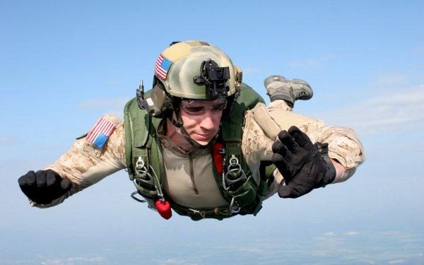 Militaire Soldat Gun Arme Paratrooper Parachuting Fond d'écran HD | Image