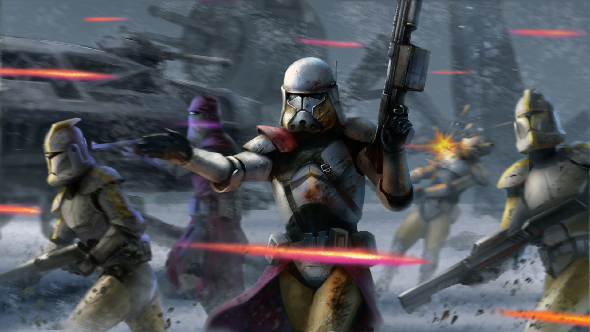 Star Wars The Clone Wars Wallpaper: The Clone Guard Full HD Wallpaper And Background Image