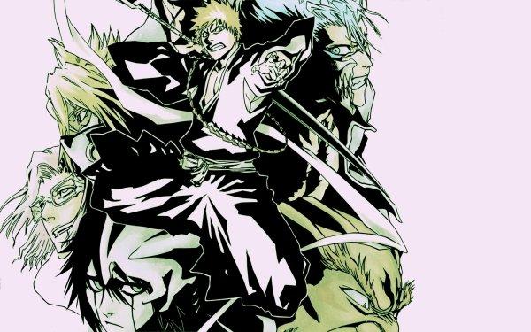 Anime Bleach Ichigo Kurosaki Grimmjow Jaegerjaquez Yammy Llargo Tier Halibel Szayelaporro Granz HD Wallpaper | Background Image