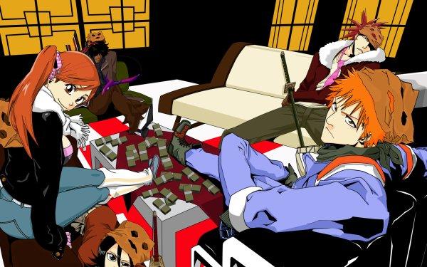 Anime Bleach Ichigo Kurosaki Orihime Inoue Renji Abarai Yasutora Sado Rukia Kuchiki HD Wallpaper   Background Image