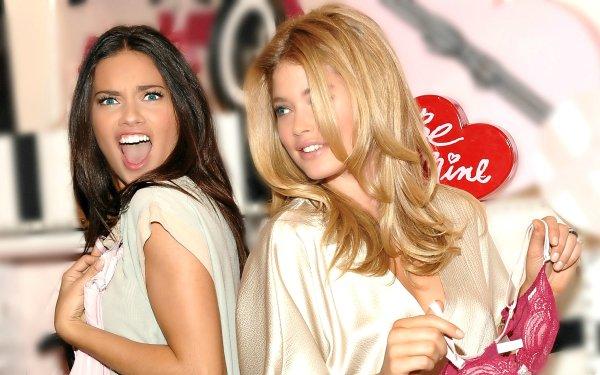 Women Model Models Adriana Lima Doutzen Kroes HD Wallpaper   Background Image