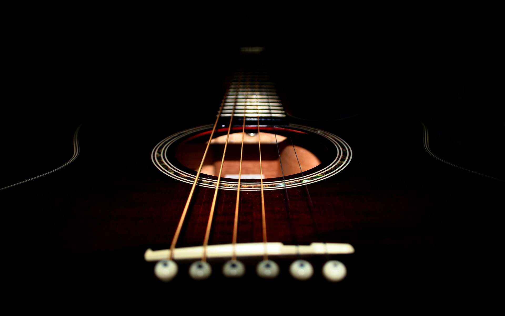 Music - Guitar  Black Wallpaper